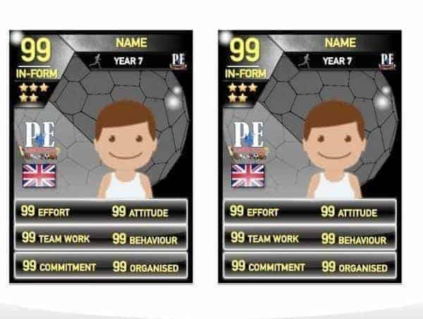 Ultimate Team Merit Cards @PE4Learning