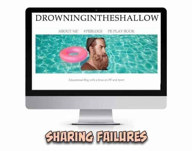 Sharing Your Failures - A Rich Learning Tool