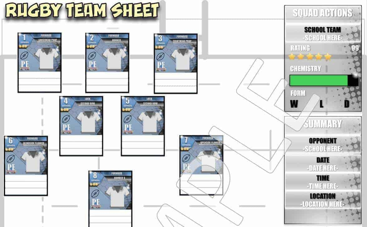 rugby team sheets pdf pe4learning