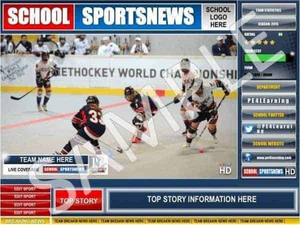 School Sports News Display