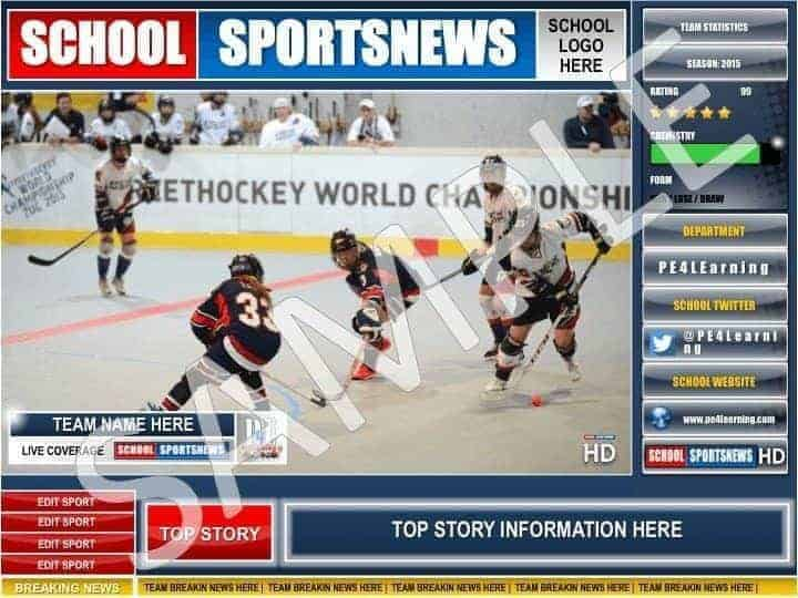 School Sports News HD Display Poster