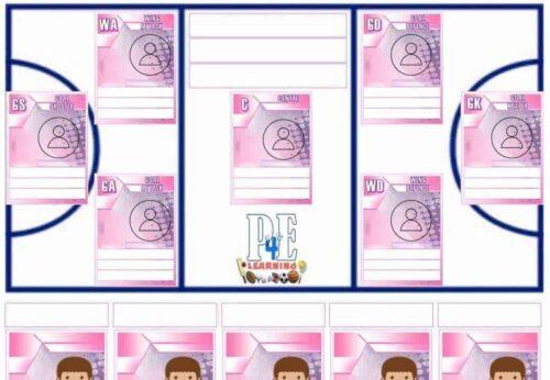Netball Team Sheet - PDF Templates