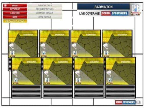 Badminton Team Sheet - Editable Templates