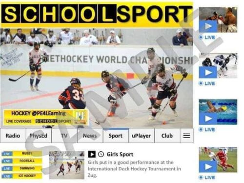School Sport News Display Poster