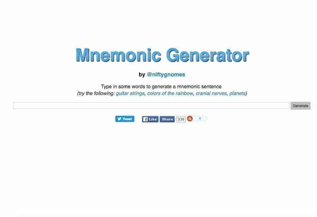 PE4Learning Revision Resource - Mnemonic Generator