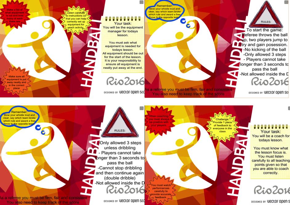 handball task cards