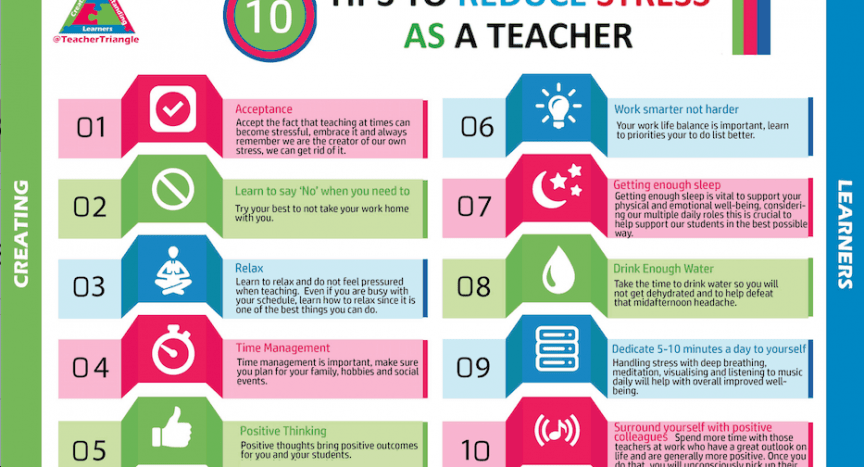 Teacher We Must Teach Emotional >> 10 Tips To Reduce Stress As A Teacher Teachertriangle Pe4learning