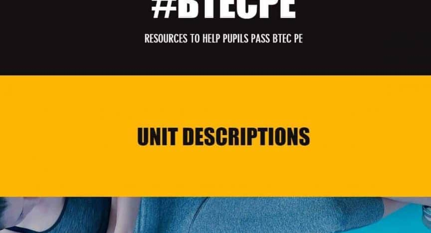 BTEC First in Sport Resources from @Mr_BOWATER