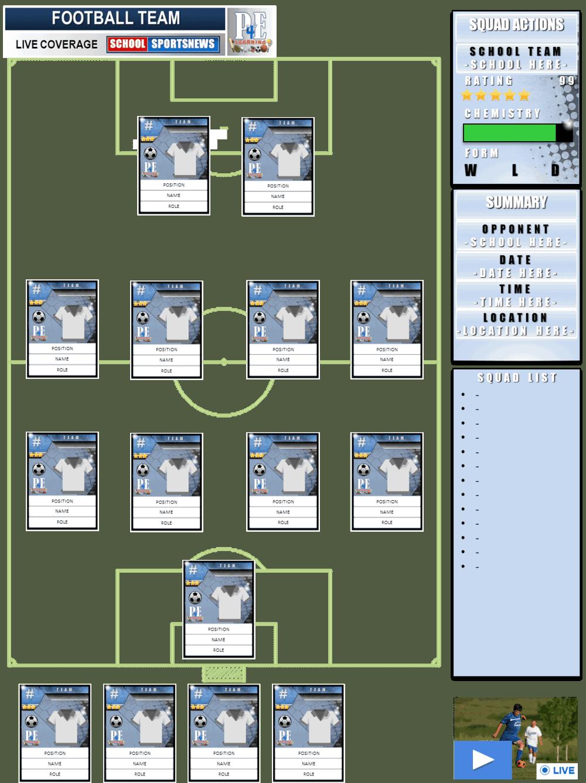 super football team sheets 2 0  u2013 pe4learning
