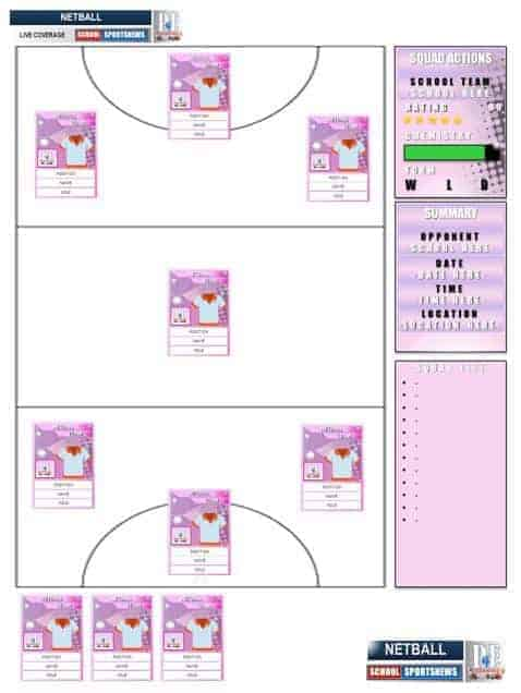 Super Netball Team Sheets 2.0