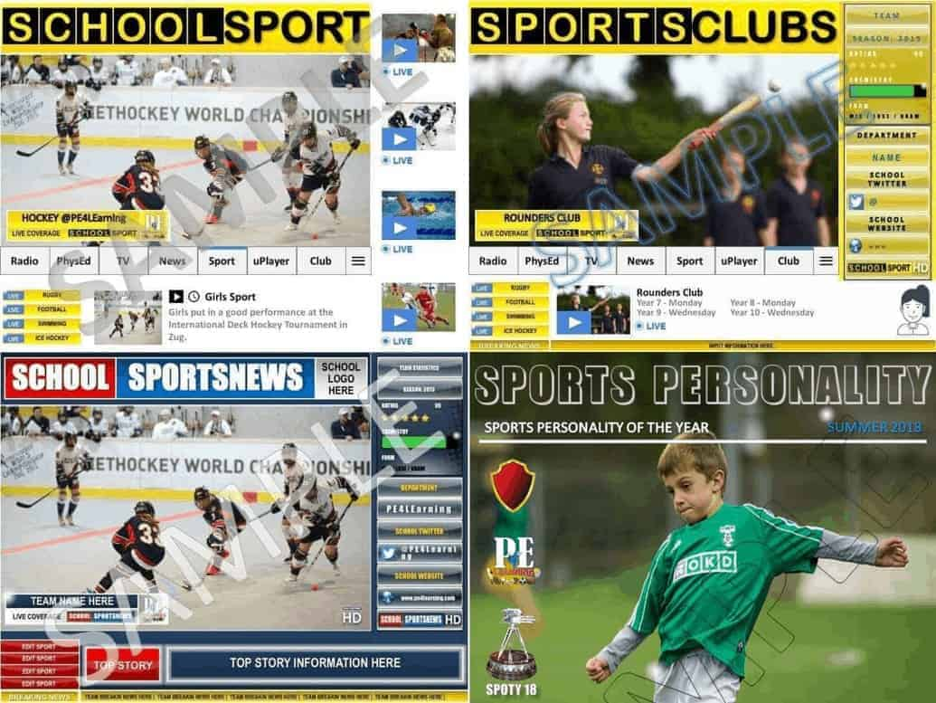 School Sport Poster Jumbo Pack 4 in 1