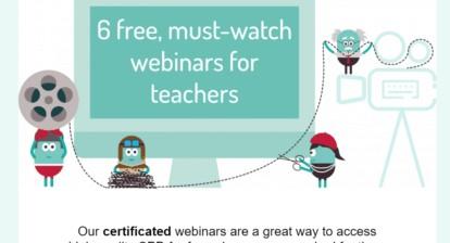 6 free, Must-watch webinars for teachers from @The_EverLearner