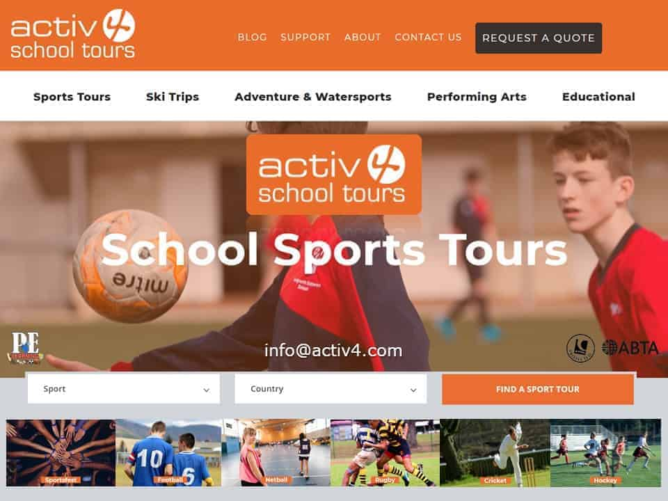 Activ4 School Tours | A family run company with the client at the heart of our business