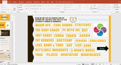 Fitness Workouts - Interactive PowerPoint @Kbarkerpe