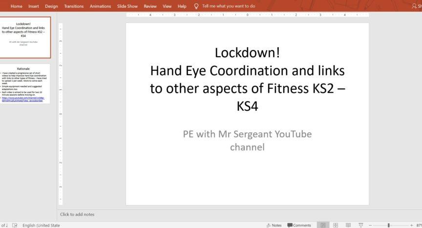 Lockdown! Hand-Eye Coordination @martinsergeant25