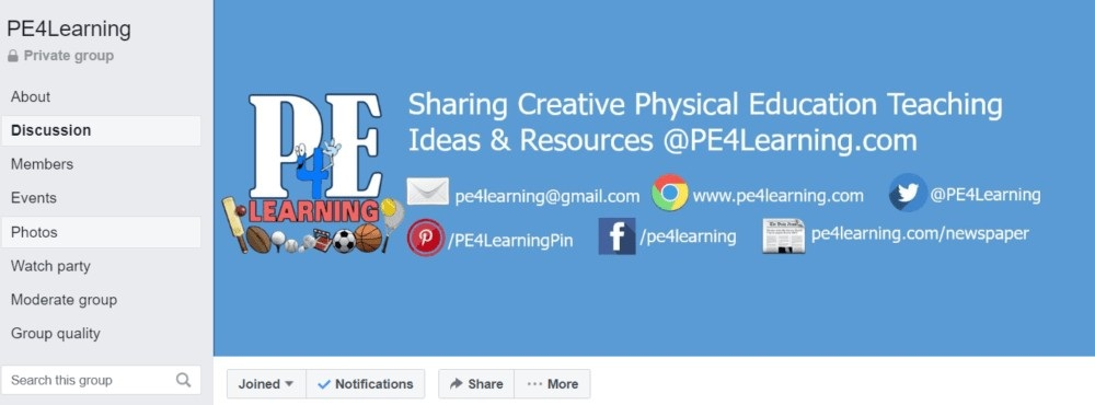 Facebook Group   @PE4Learning