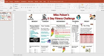 Fitness Challenge from @ Miss Polson
