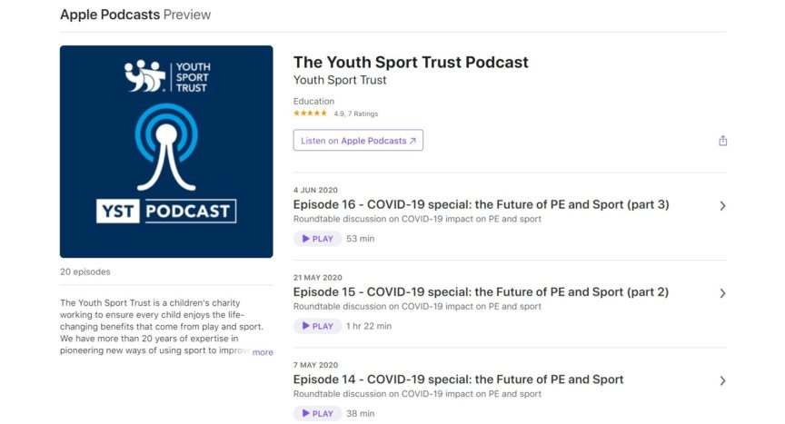 The Youth Sport Trust Podcast @YouthSportTrust