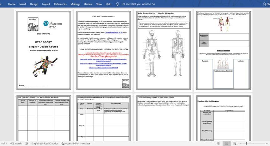 @JMcTiffen - Level 3 Sport BTEC Anatomy Summer Work