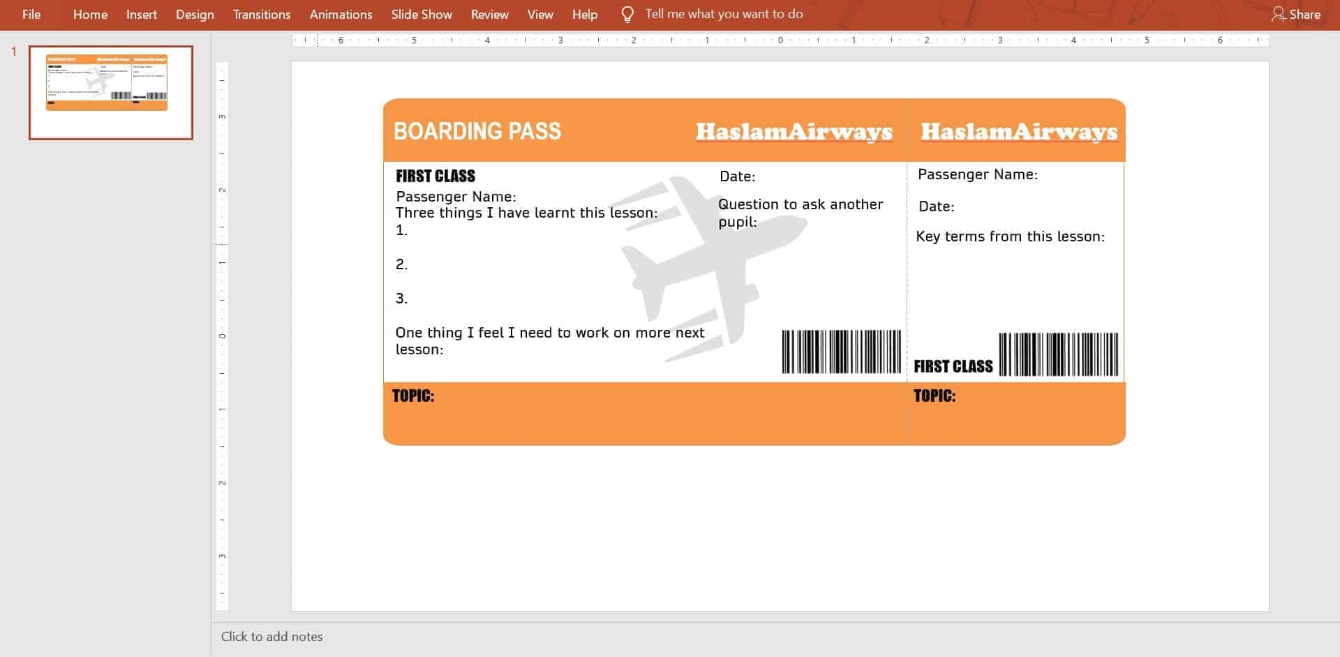 New uploads to @PE4Learning by @MissHaslamPE - Boarding Pass