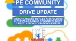 @PE4Learning Community Drive Update - New Feature! - Instant access to the PE4Learning Community Drive via your own Google Drive with auto-update capabilities saving teachers even more time [BETA]