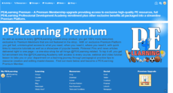 PE4Learning Premium - A Premium Membership upgrade providing access to exclusive high-quality PE resources, full PE4Learning Professional Development Academy enrollment plus other exclusive benefits all packaged into a streamline Premium Platform.